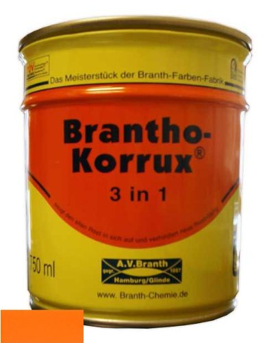 "Brantho Korrux ""3 in 1"" 0,75 l 2011 Tieforange (27,33 EUR/l)"