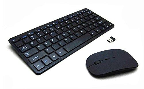IDEAL DREAM (Combo Bündeln) 2 in 1 Box Kabellos Laser Optische Tastatur und Maus mit USB Dongle Empfänger für Gaming, PC, Computer, Laptop, Chromebook, kompatibles Windows OS, Mac OS, Linux OS Elektronische Komponente Box