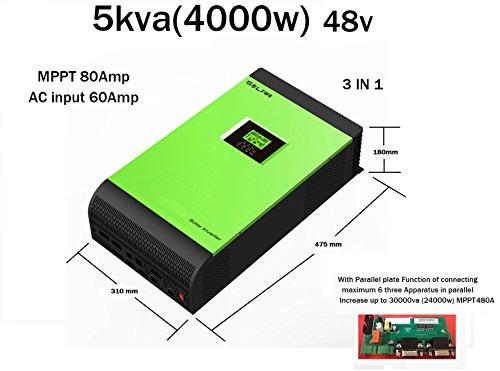Inverter Pure Wave Hybrid 5kVA 48V Regulator MPPT 80A Charger 60A -