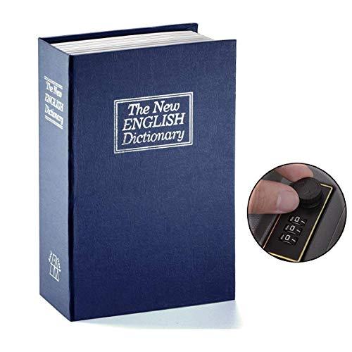 hlenschloss Wörterbuch Diversion Buchsafe,Buch Wörterbuch Lock Box (Blau, Groß) ()