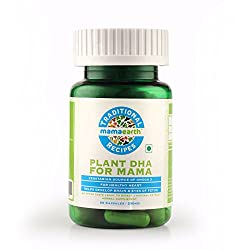 Mamaearth Plant Based DHA-250 mg and Omega 3 Fatty Acids Natural Herbal Supplements Traditional Recipes For Mothers - 60 Capsules (Pack Of 1)