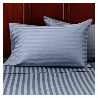 Better Homes and Gardens Wrinkle-Free 300-Thread Count Damask Stripe Pillowcases by Alok International