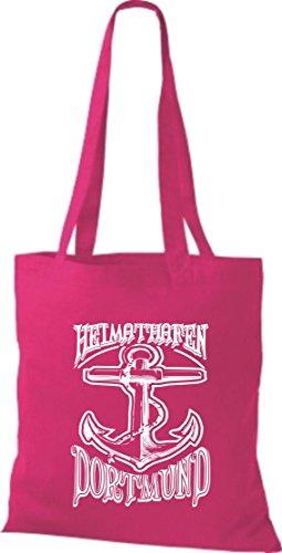 Crocodile leur port d'attache dortmund kiez, sac shopper sac à bandoulière plusieurs couleurs Rose - Rose