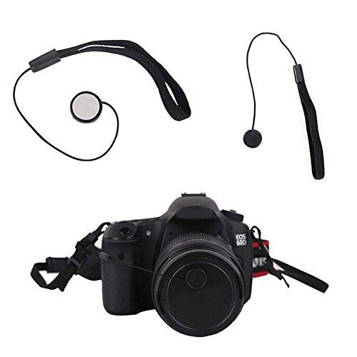 5x Schlüsselfinder Snap-on Lens Cover Cap Keeper Lanyard Strap für DSLR-Kamera Objektivschutz Halter Seil Kordel Zum Aufhängen Lens Cap Keeper Strap