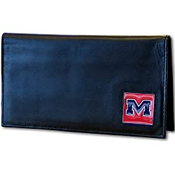 NCAA Ole Miss Rebels Leather Checkbook Cover