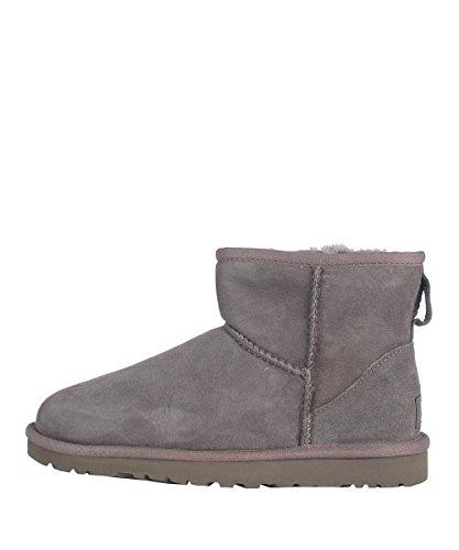 Ugg W Classic Mini Grey Boots - Stivaletti Da Donna Grigi Camoscio