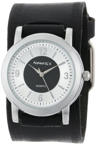 Nemesis Men's HST094K Black Collection Retro Dual Tone Watch