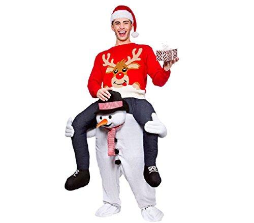Schneemann Kostüm Aufsitzkostüm für Erwachsene Ride Me Carry On
