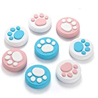 Landove Switch Thumb Grip Caps, Joystick Cap for Nintendo Switch & Lite, Soft Silicone Cover for Joy-Con Controller, Cat Claw Design