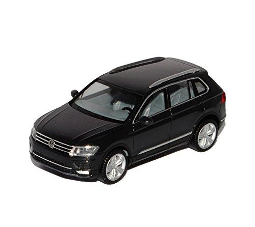 Preisvergleich Produktbild VW Volkswagen Tiguan II Urano Grau Schwarz 2. Generation Ab 2015 H0 1/87 Herpa Modell Auto mit individiuellem Wunschkennzeichen