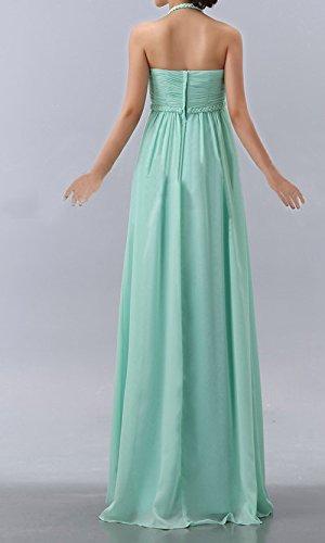 robe de soirée longue mousseline bleue