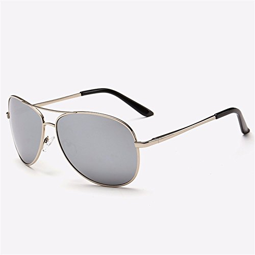 Männer Sonnenbrillen/Sonnenbrillen/Männer fahren Fahrspiegel/Fahrer Gläser/polarisierte Jurte/Gezeiten, Silber Rahmen von Quecksilber