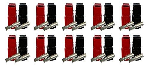 Anderson PowerPole® 20er - Set Mit 20 x 30A Kontakt, 10 x Gehäuse Rot, 10 x Gehäuse Schwarz (40 Teile) Anderson Powerpole