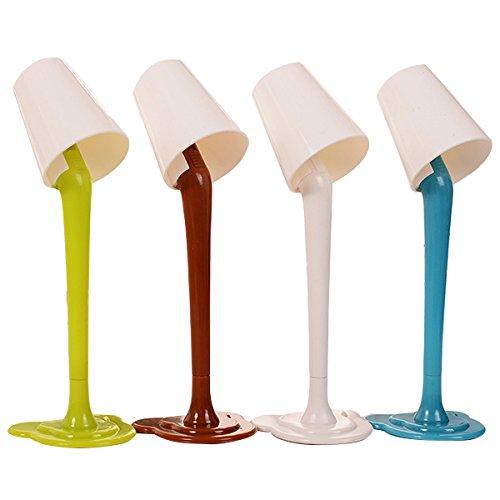 nuolux Lot de 4 stylo bille avec lampes pour enfants cadeau d'anniversaire école bureau