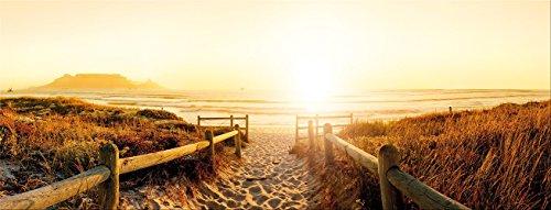 artissimo, Glasbild, 80x30cm, AG1895A, Desire, Strand und Meer, Sonnenuntergang, Bild aus Glas, Moderne Wanddekoration aus Glas, Wandbild Wohnzimmer modern