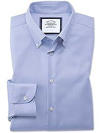 be8cae3951341 Charles Tyrwhitt Chemise business casual bleu ciel extra slim fit sans  repassage à col boutonné