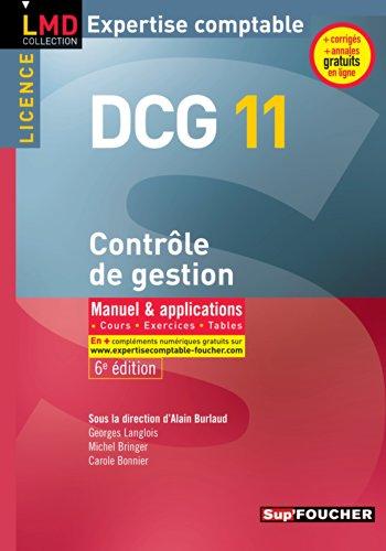 DCG 11 - Contrôle de gestion - Manuel et applications - 6e édition