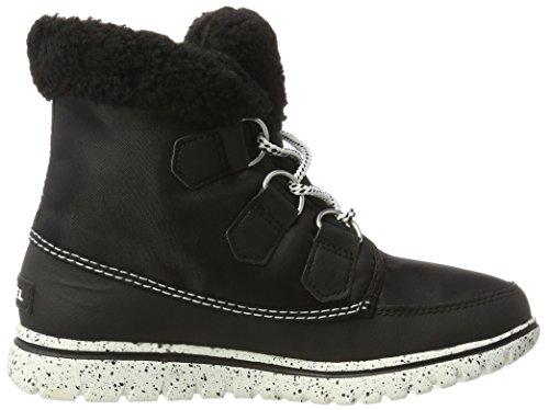 Sorel Cozy Carnival, Sneakers Hautes Femme Noir (Black/Sea Salt 010)