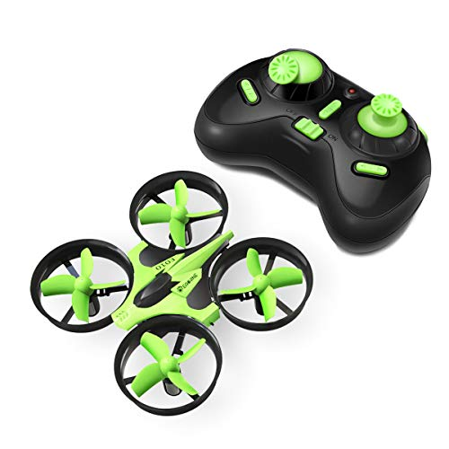 Mini drone, eachine e010 mini ufo quadricottero droni per bambini adatto per principianti 3d flip luce a led (verde)