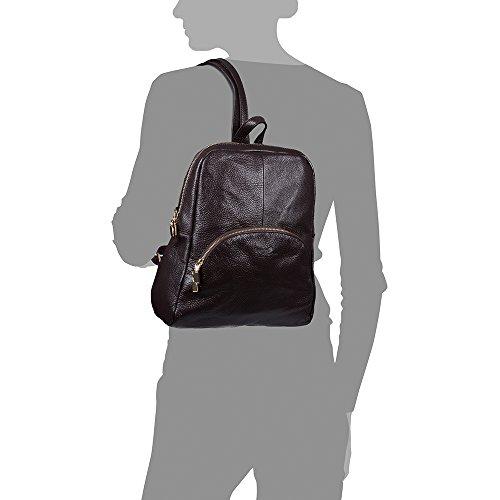 FIRENZE ARTEGIANI Ledertasche Rucksackhandtaschen MADE IN ITALY. AUTHENTISCHE ITALIENISCHE HAUT 31x31x10 cm. Farbe: Braun Braun Dunkel