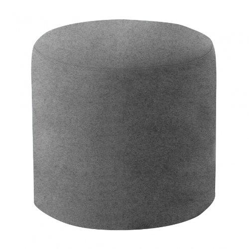 Softline Drum Hocker/Beistelltisch M, hellgrau Stoff Felt 620 H 40cm Ø 45cm