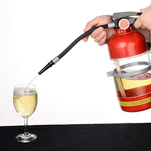 FYQF Bier Wasserspender, Retro Feuerlöscher Dekanter Alkohol Flüssiges Erfrischungsgetränk Minibar Zubehör Stil 2l Dekanter