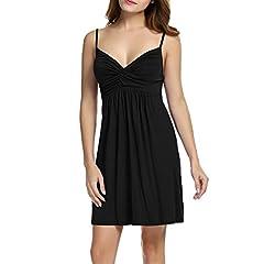 d5a6ee6542c HOTOUCH Women s Sleepwear Slip Sexy V Neck Spaghetti Strap Ni .