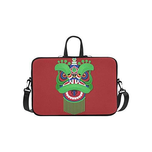 Dance Lion Kostüm - Chinesisches Neujahr Lion Dance Kopf Muster Aktentasche Laptoptasche Messenger Schulter Arbeitstasche Crossbody Handtasche Für Geschäftsreisen