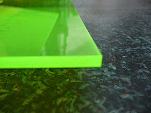 Platte Acrylglas GS, 500 x 500 x 3 mm, Fluoreszierend grün Zuschnitt alt-intech® - 2