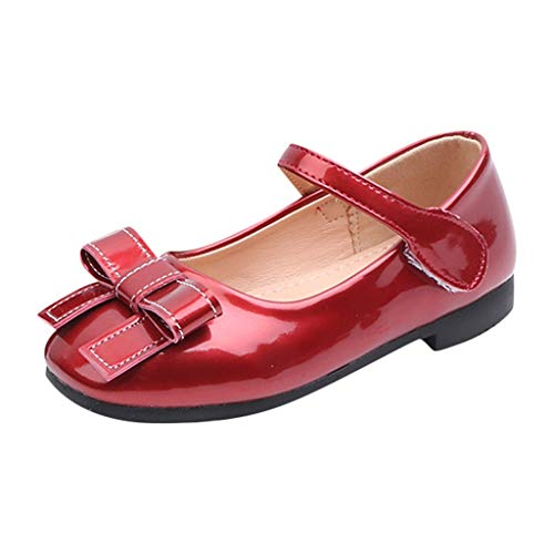 Berimaterry Bailarinas de Material Sintético para Niña Zapatos Zapatilla con Lazo para Niña Princesa...