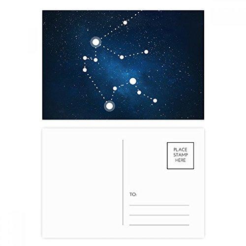 DIYthinker Wassermann Konstellation Sternzeichen Postkartenset Geburtstag dankt Karte Mailing Side 20pcs 5.7 Zoll x 3.8 Zoll Mehrfarbig - Geburtstag Karte Wassermann
