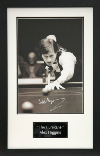 Alex Higgins 14x10 signed photo framed