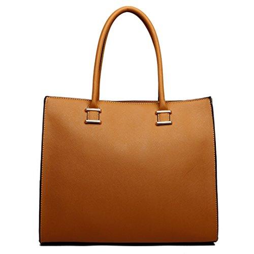 Miss Lulu , Damen Tote-Tasche 1509 Tan