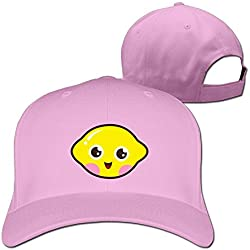 Yesher Fashion Cute Kawaii amarillo gorra de béisbol – Gorra ajustable, color negro - Rosado -