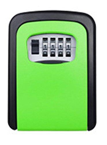 Key Storage Lock Box, an der Wand befestigter Key Lock Box mit 4-stelliger Kombination, hält bis zu 5 Schlüssel, für Hausschlüssel oder Autoschlüssel (grün) (Key Storage Lock-boxen)