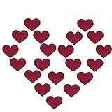 Creamlin 10Pairs Sexy Heart Pasties One-off Nipple Copre l'adesivo del reggiseno del seno (Rosso)