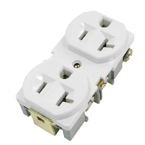 Industrie-Stecker-Adapter Spec Grade 20A Weiß Duplex-Steckdose 125V -