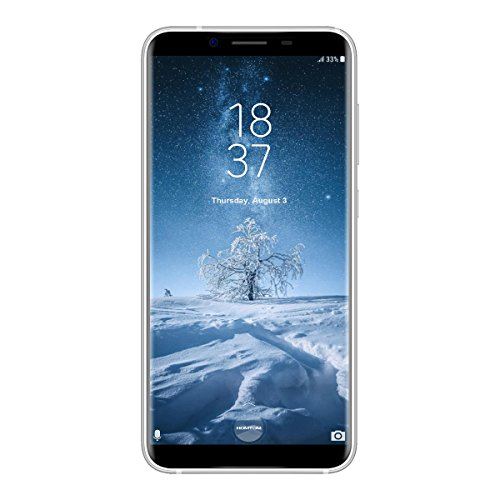 HOMTOM S8 - 5,7 Zoll 4G LTE Smartphone, Android 7.0 Octa Core 4GB + 64GB, Dual Hintere Kameras 16.0MP + 5.0MP mit Front 13.0MP, Dual SIM, Smart Geste, Schnelle Ladung, Entriegelte Handy, Silber