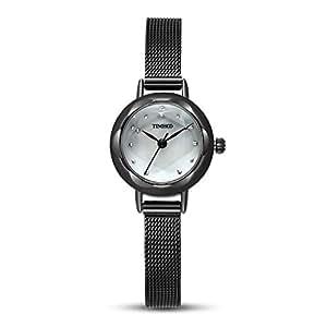 Time100 Orologio Donna da Polso Movimento al Quarzo Quadrante in Madreperla #W50203L.02A(Nero)
