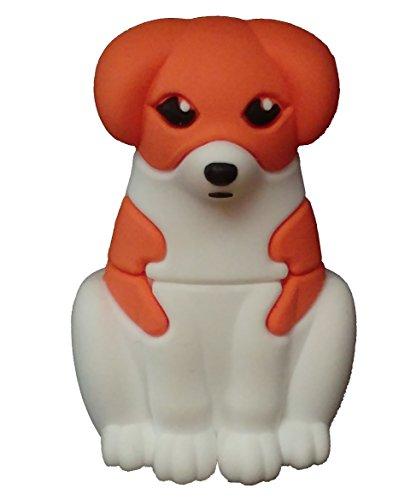 Perro Perrito 8 GB - Cute Pet Dog - Memoria Almacenamiento de Datos - USB Flash Pen Drive Memory Stick - Diseño único y Original - Blanco y Marrón