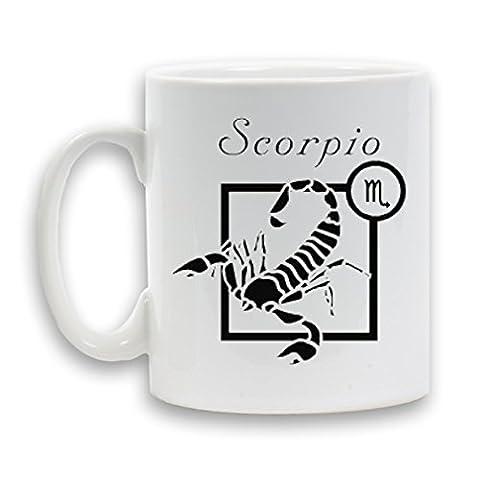 Horiscope esigned signe scorpion 11 oz tasse en céramique Blanc très nouveauté cadeau thé café Contenant de boisson