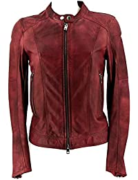 Diesel Women's Leather Jacket red red