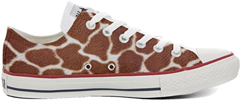 Converse All Star Personalisierte Schuhe (Custom Produkt) Slim Giraffa