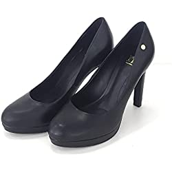 rocco barocco , Damen Pumps schwarz schwarz, schwarz - schwarz - Größe: 36