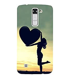 Girl with a Heart 3D Hard Polycarbonate Designer Back Case Cover for LG K10 :: LG K10 Dual SIM :: LG K10 K420N K430DS K430DSF K430DSY