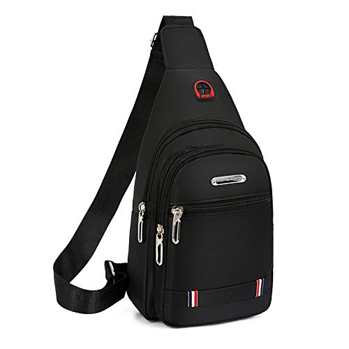 New Chest Bag Men's Bag one-Shoulder Slant Bag Casual Slash Bag Oxford Cloth Chest Stiletto Backpack Oxford Stiletto