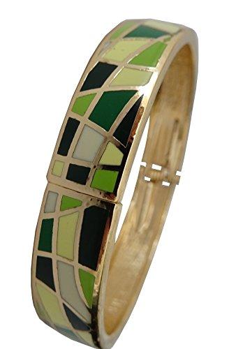 Bracelets et Pendentifs Art Déco Armband Hochwertige Slim Emaille Kosovo. Schöne Farben und Mustern aktuellen mit Scharnier. Trés Trend MI12
