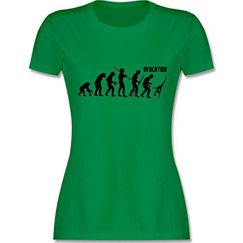 Evolution - Rhythmische Sportgymnastik Evolution - tailliertes Premium T-Shirt mit Rundhalsausschnitt für Damen Grün