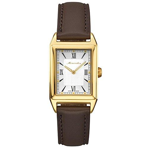 Mercedes-Benz ' originale orologio da polso da donna in acciaio inox Classic oro/marrone