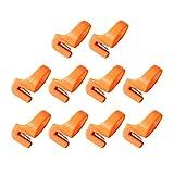 SUPVOX taglierina ad Anello tagliafilo taglierina Multifunzionale in Acciaio Inossidabile Leggero tagliafili per Cucire all'aperto 10pcs casa Arancione